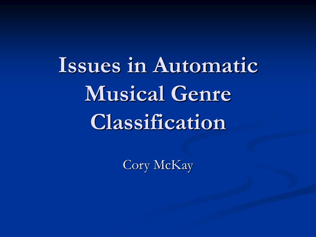 issues in automatic musical genre classification l.