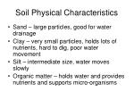soil physical characteristics