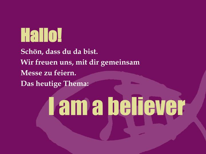 i am a believer n.