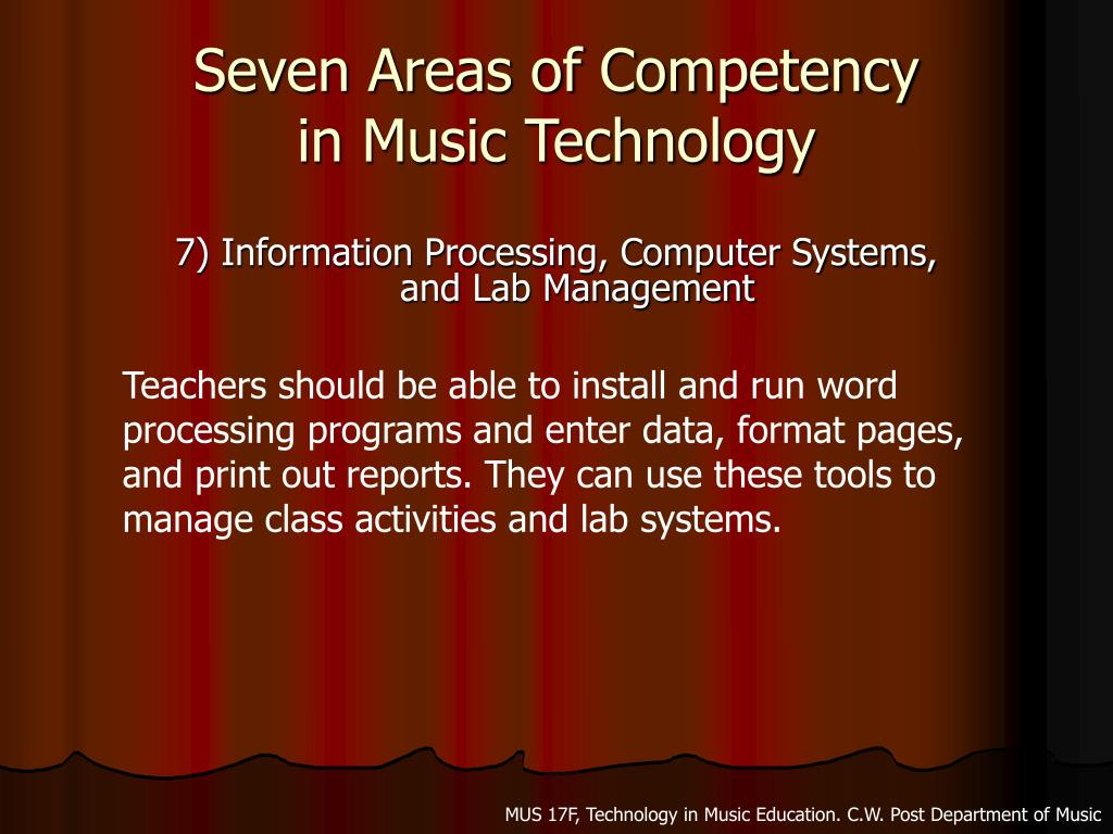 Seven Areas of Competency