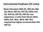 instrumental emphasis 25 units