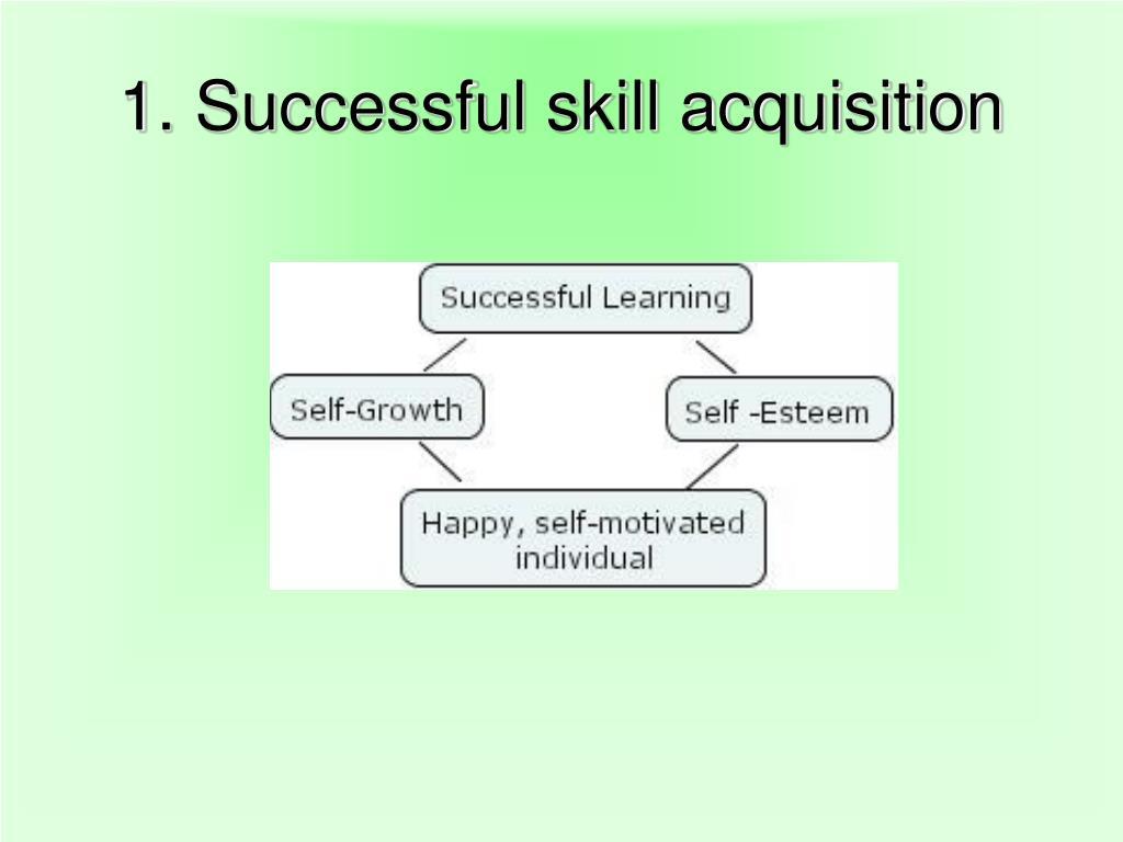 1. Successful skill acquisition