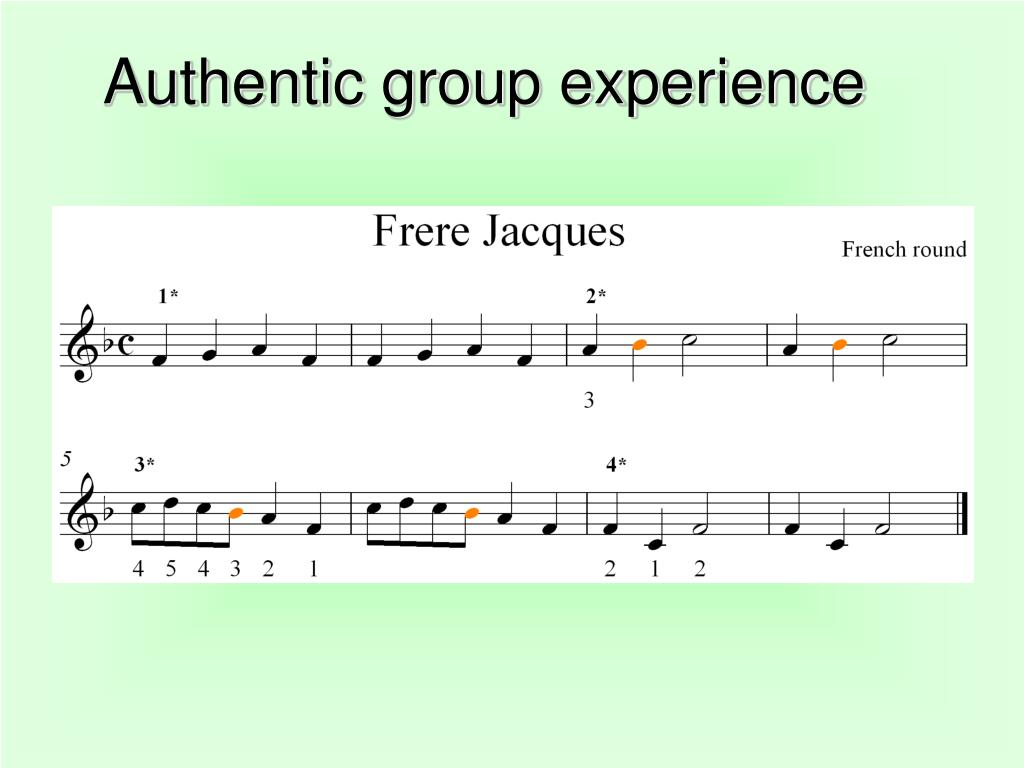 Authentic group experience