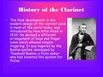 history of the clarinet9