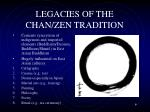 legacies of the chan zen tradition