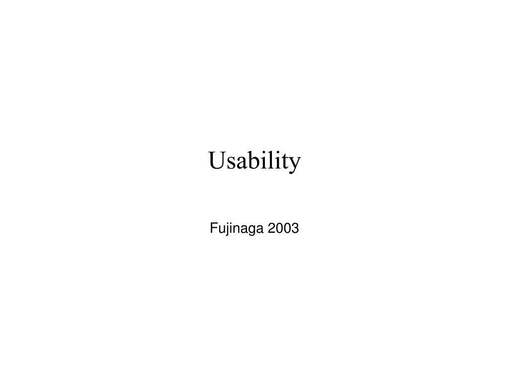usability l.