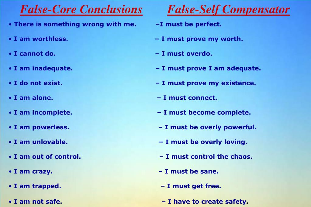 False-Core Conclusions