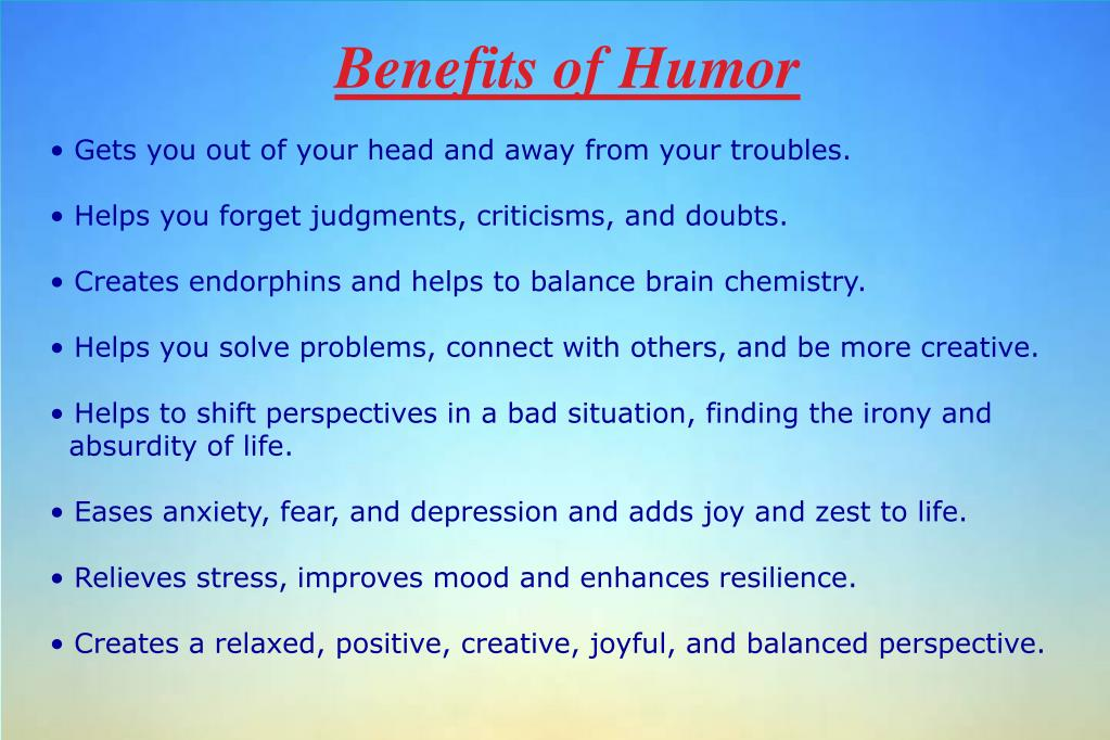 Benefits of Humor