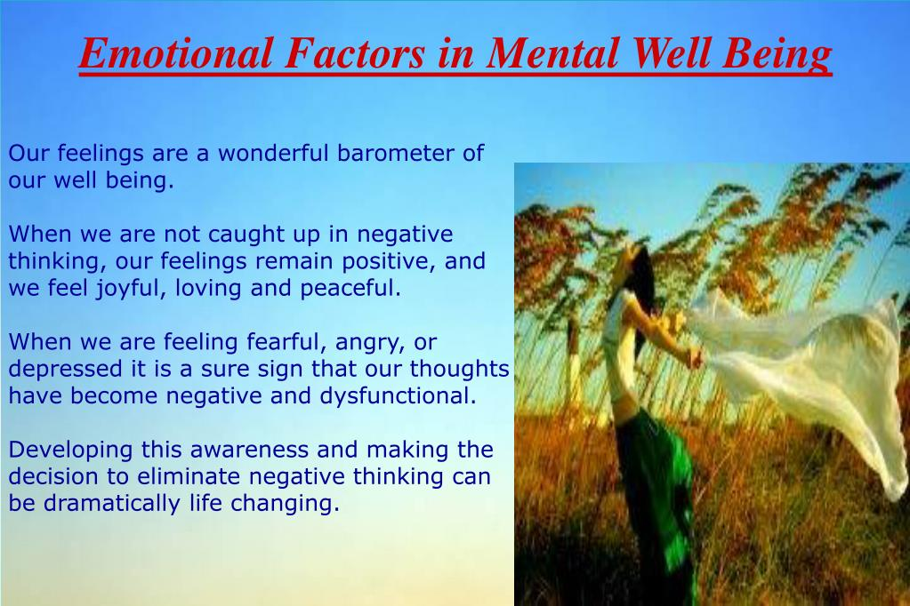 Emotional Factors in Mental Well Being