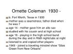 ornette coleman 1930