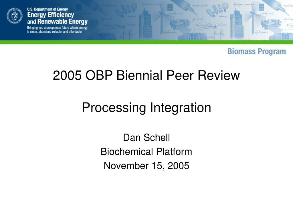 2005 obp biennial peer review l.