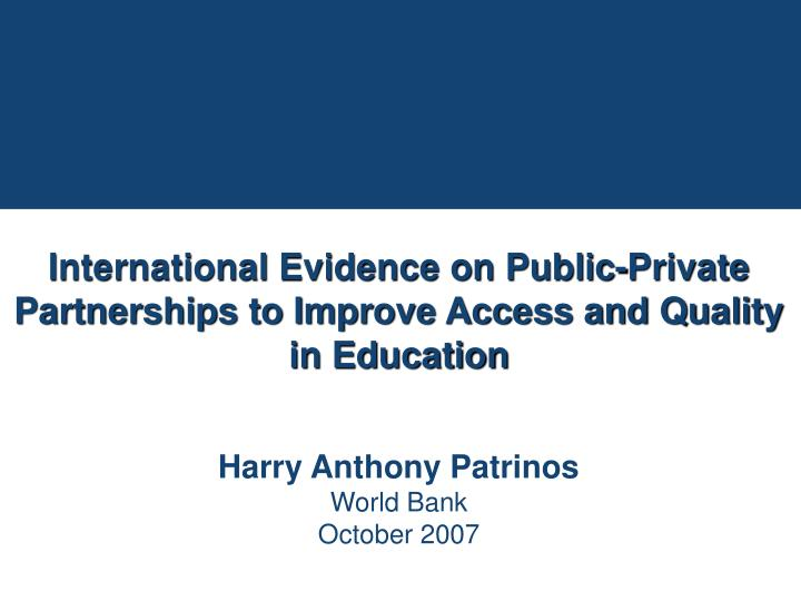 essay on scope of public-private partnership in education Partnership provides a scope for association of persons the risk of loss of private property of the partnership influences the partners to lack of public.