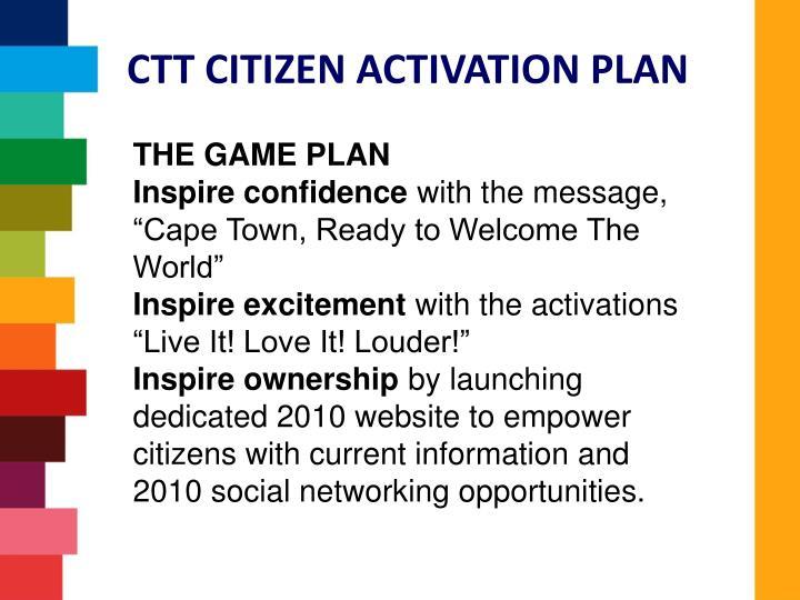 CTT CITIZEN ACTIVATION PLAN