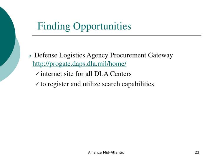 Ppt doing business with the government powerpoint for Finding subcontracting opportunities