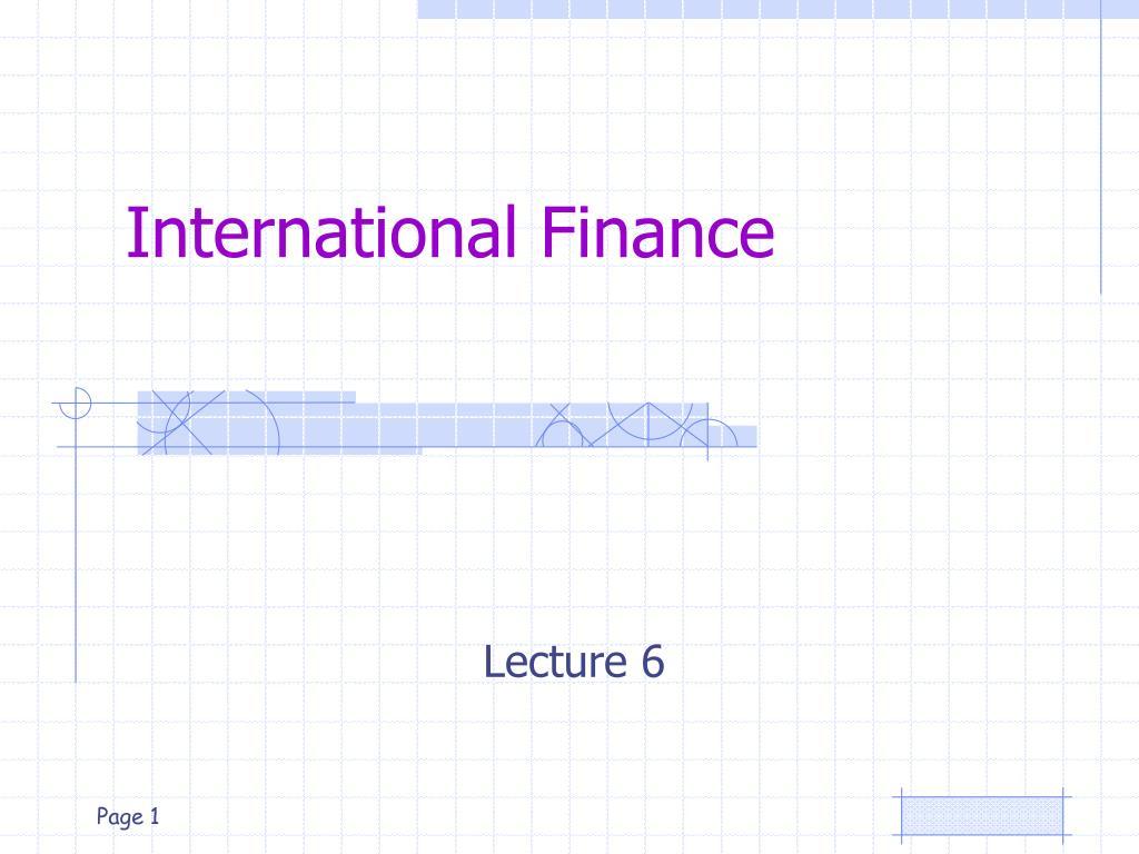international finance l.