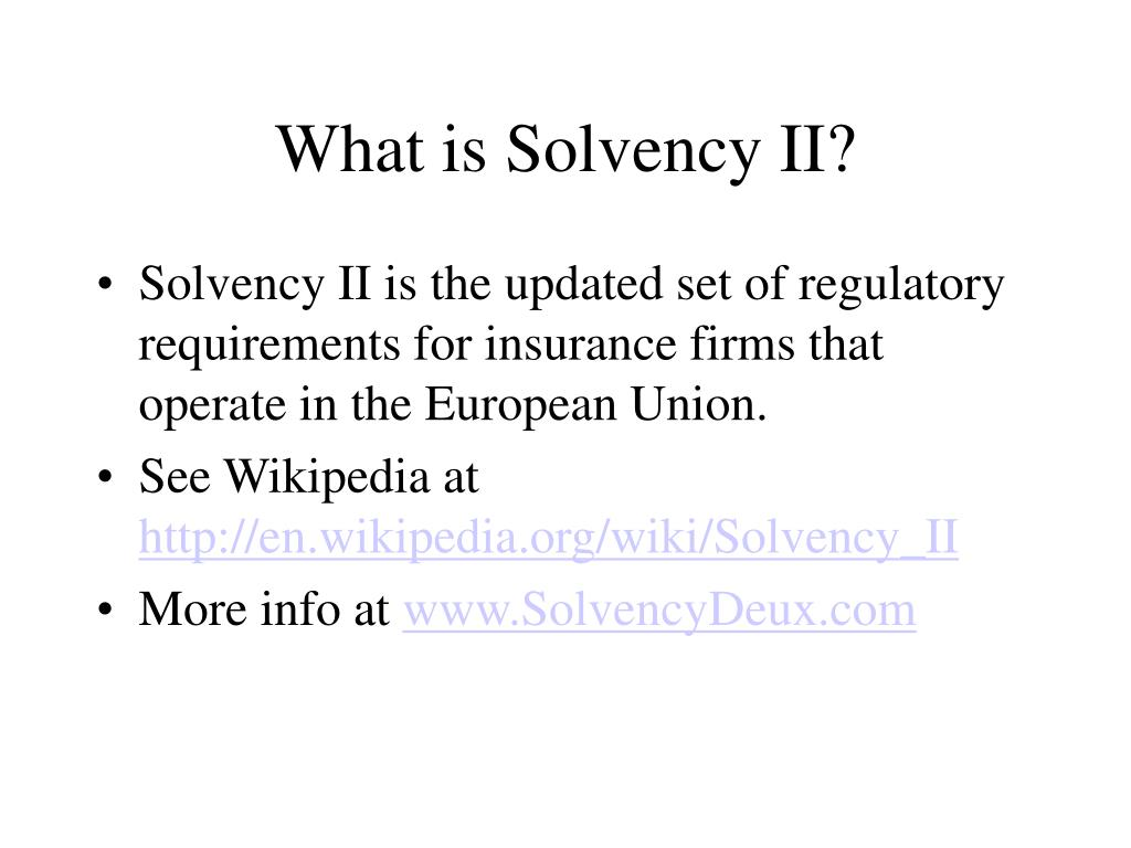 What is Solvency II?