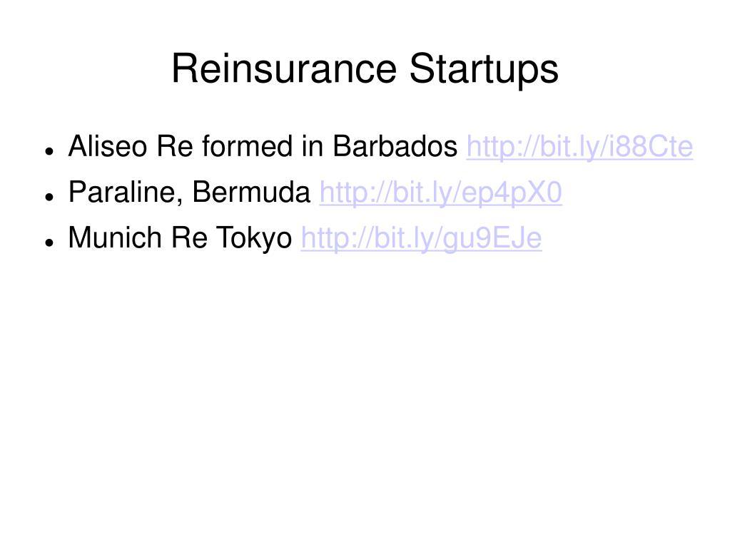 Reinsurance Startups