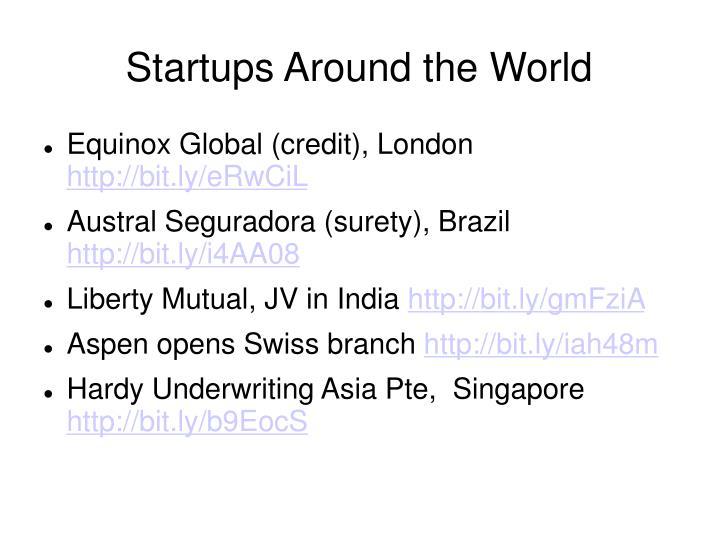 Startups around the world