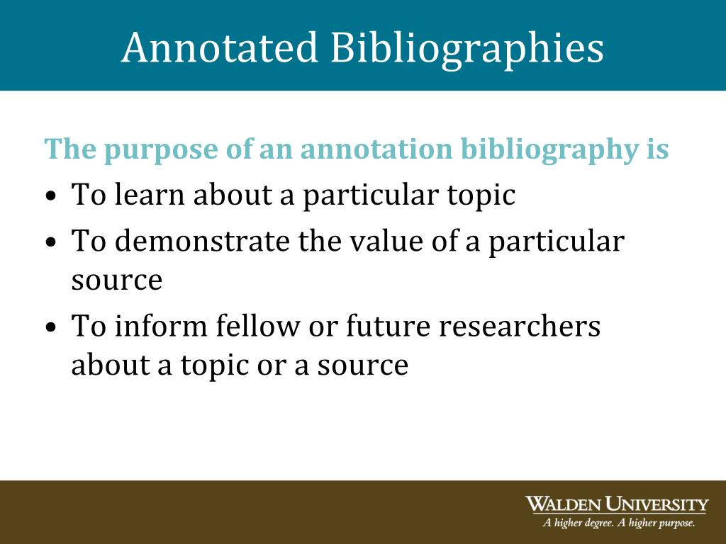 are annotated bibliographies alphabetized
