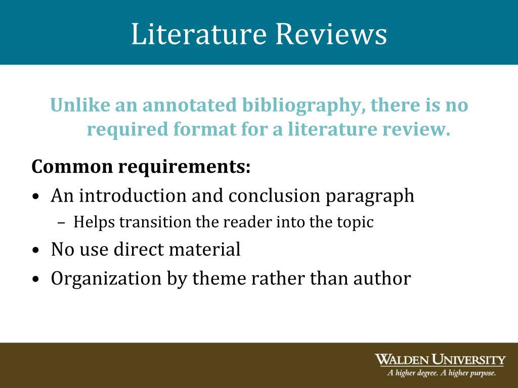 dissertation literature reviews