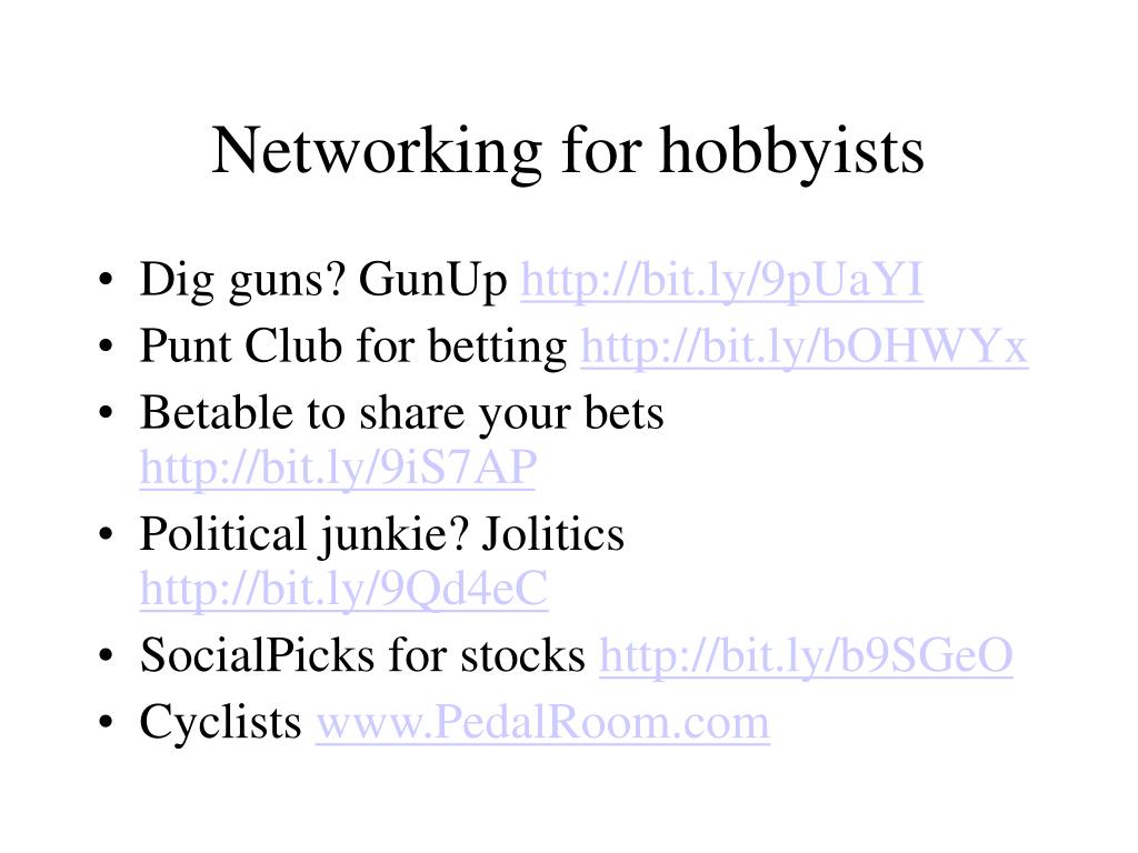 Networking for hobbyists