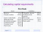 calculating capital requirements