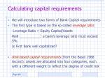 calculating capital requirements20