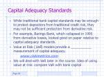 capital adequacy standards23