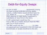 debt for equity swaps