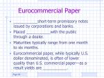 eurocommercial paper