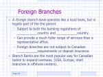 foreign branches