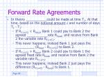 forward rate agreements35