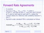 forward rate agreements36