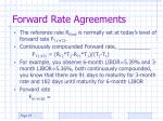 forward rate agreements37