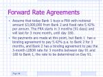 forward rate agreements38