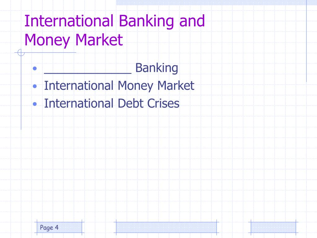 International Banking and