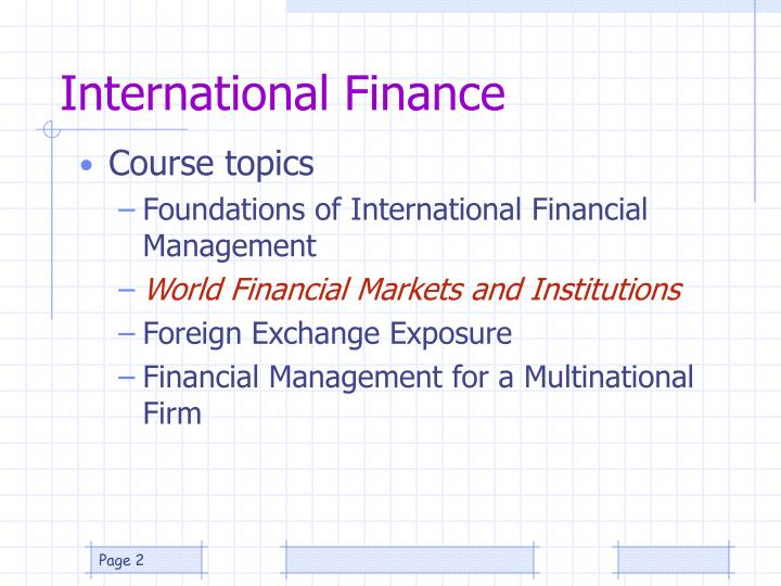 International finance2