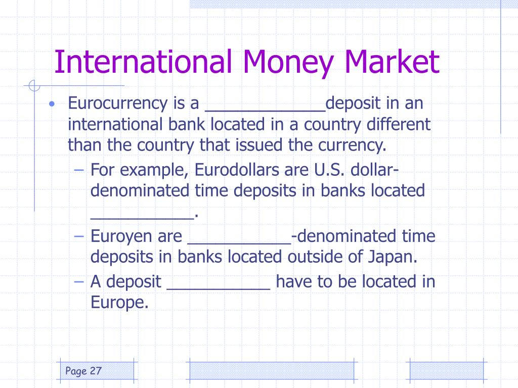 International Money Market