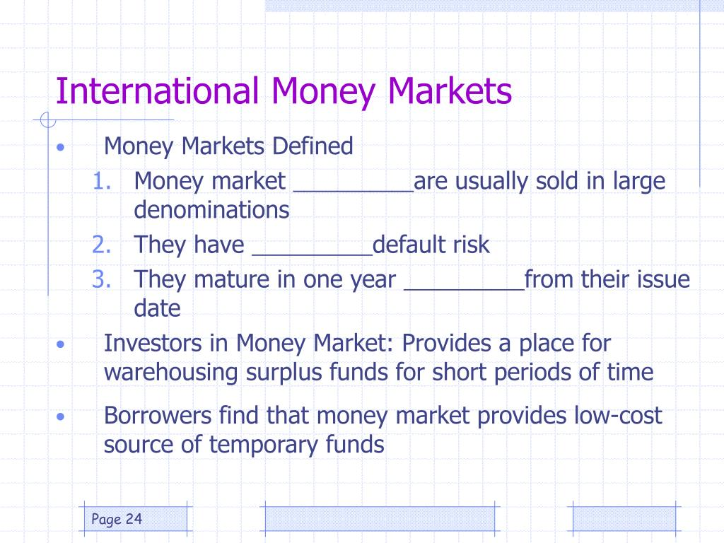 International Money Markets
