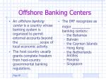offshore banking centers