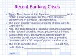 recent banking crises