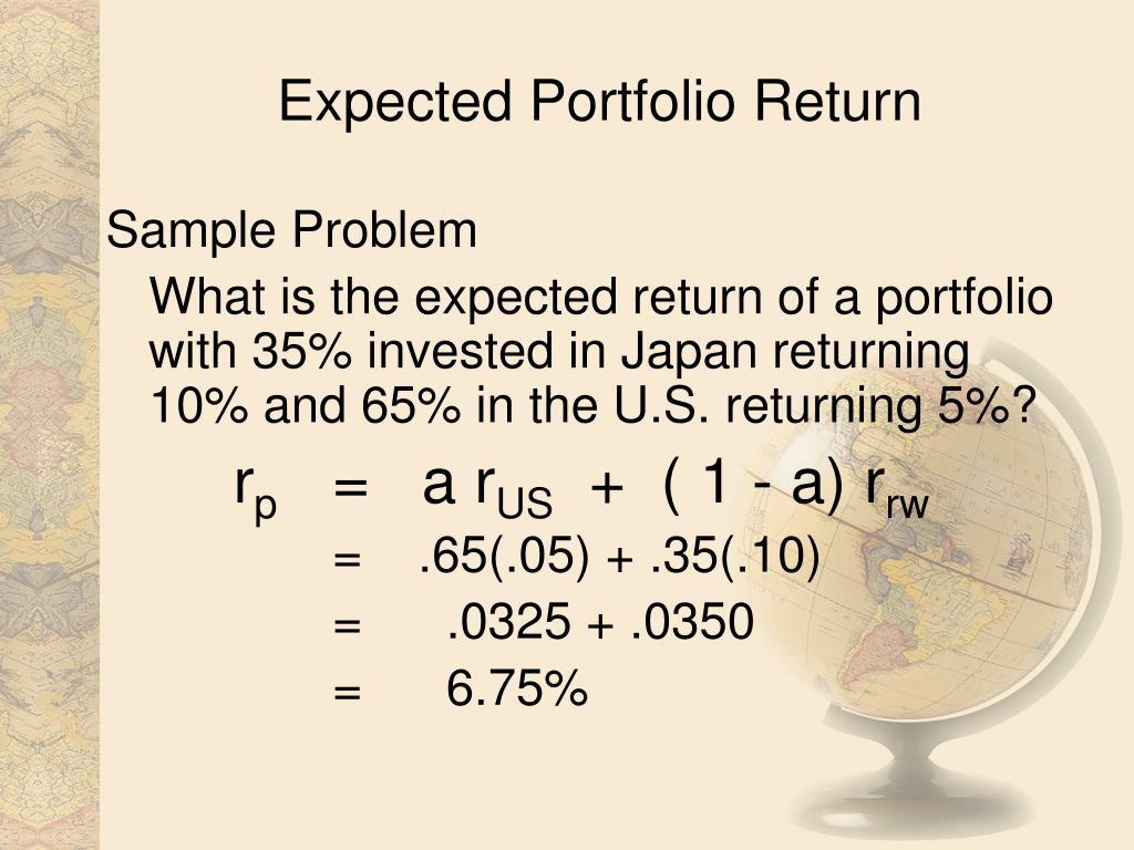 Expected Portfolio Return
