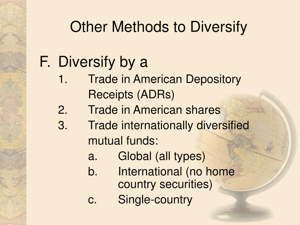 Other Methods to Diversify