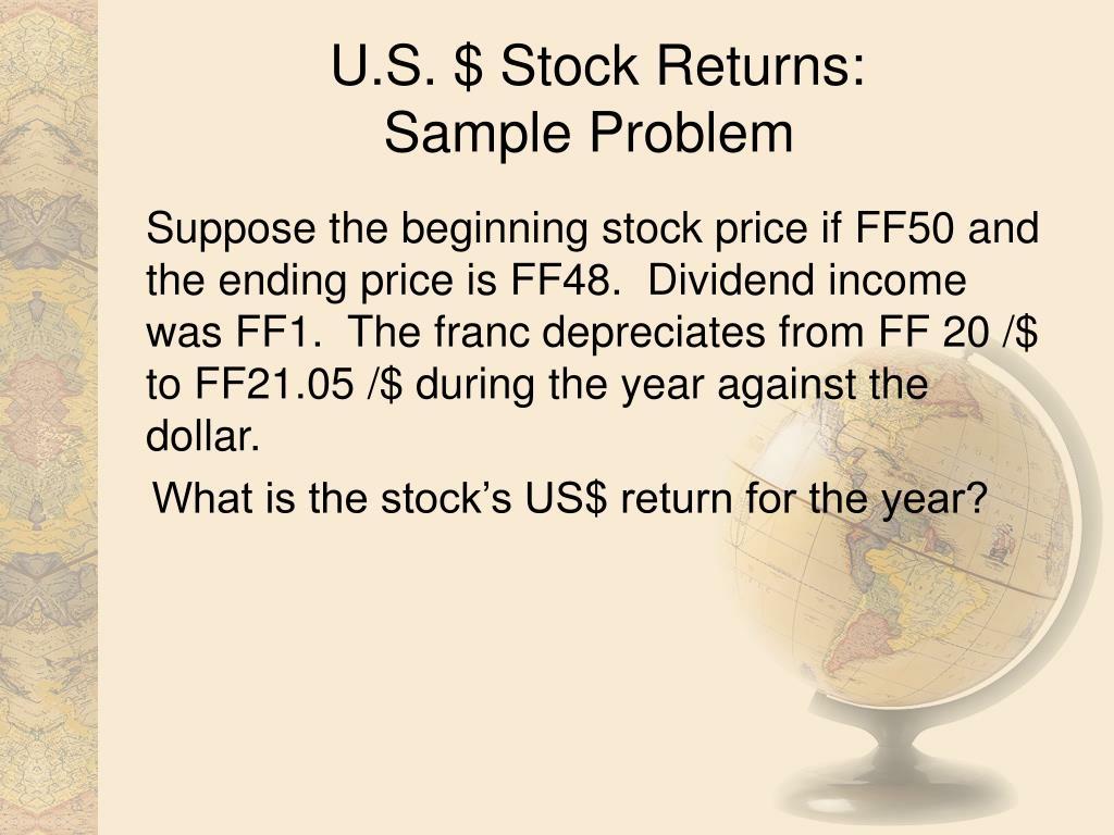 U.S. $ Stock Returns: