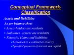 conceptual framework classification