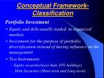 conceptual framework classification27