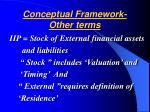 conceptual framework other terms