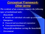 conceptual framework other terms17