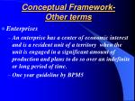 conceptual framework other terms22
