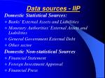 data sources iip